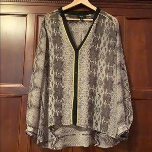 Alfani Sheer Snakeskin blouse